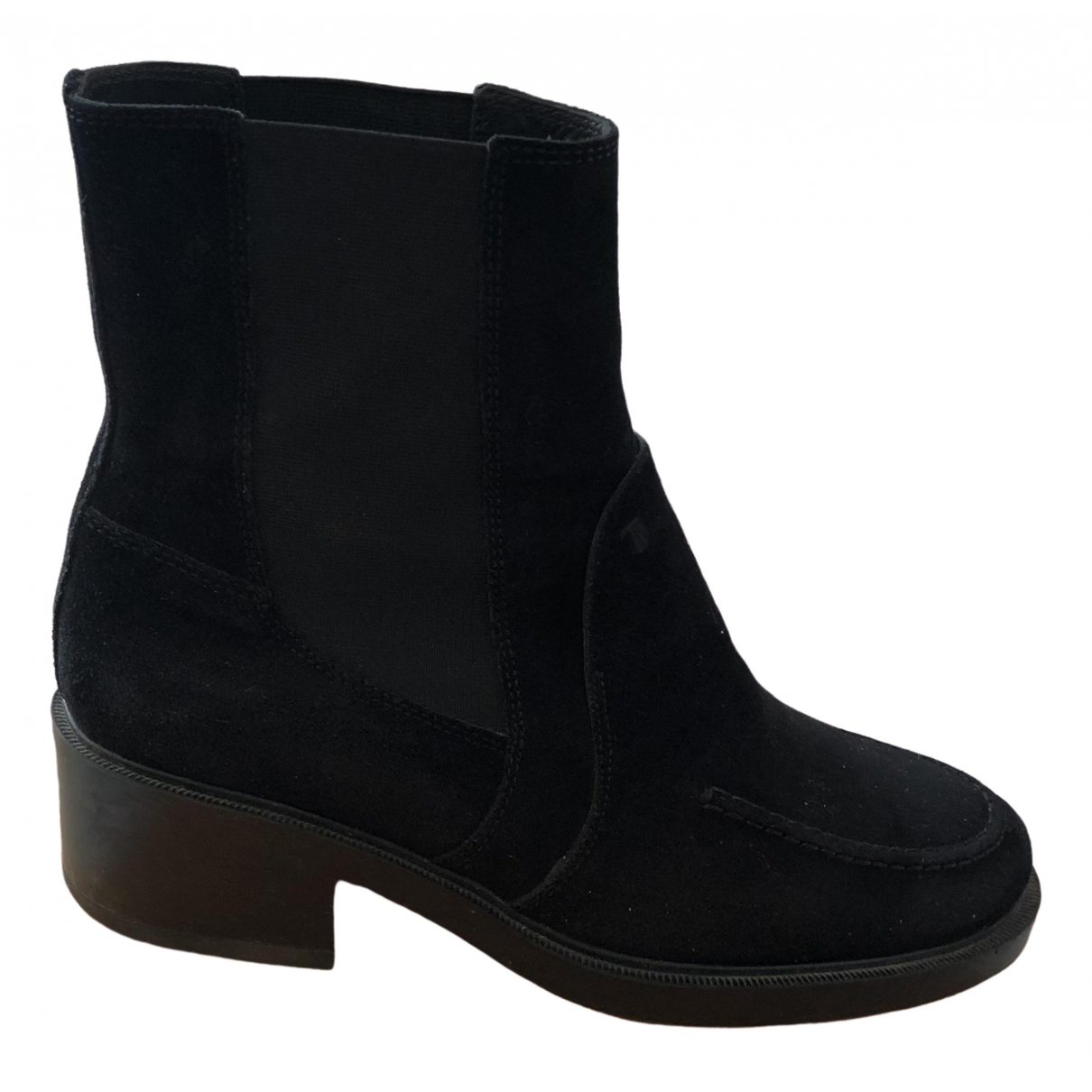 Tod's \N Black Suede Boots for Women 40 EU