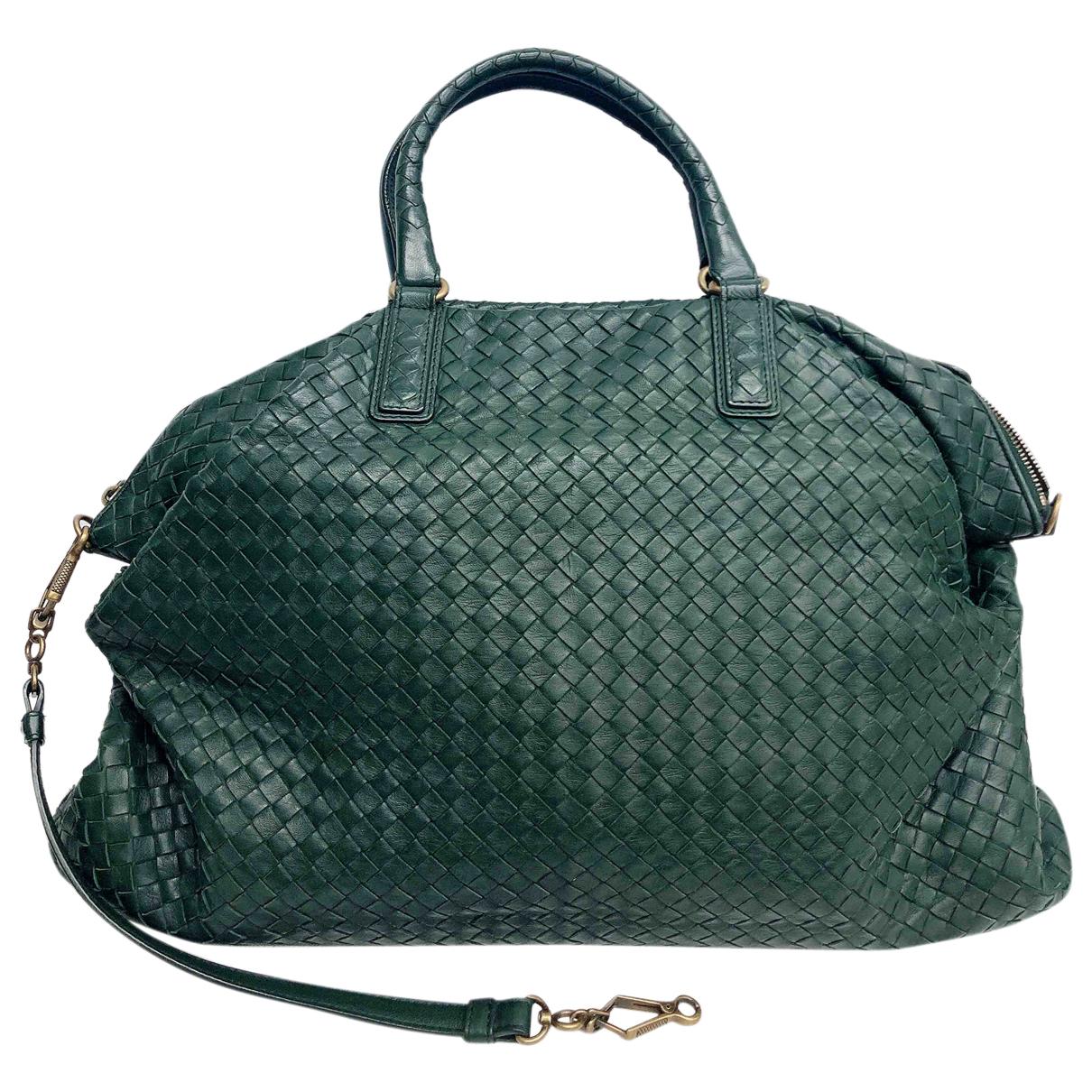 Bottega Veneta - Sac a main   pour femme en cuir - vert