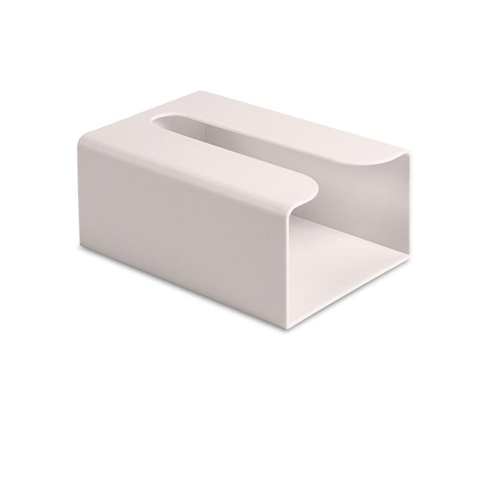 KCASA Japanese Style Portable Traceless Toilet Paper Holder Household Tissue Box Plastic Toilet Towel Holder-White