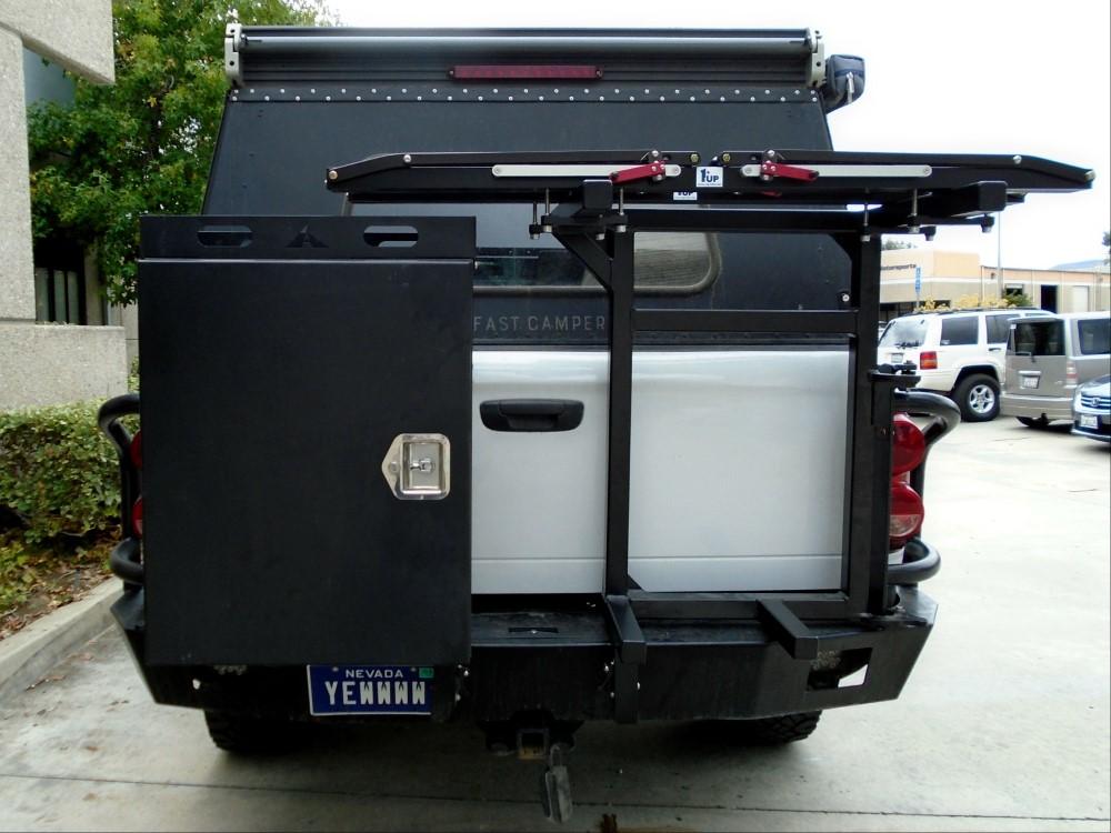 Aluminess 210047 Rear Bumper w/ Brush Guards|Swing Arms Dodge Ram Truck 03-05