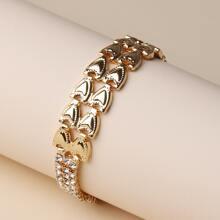 Rhinestone Heart Decor Bracelet