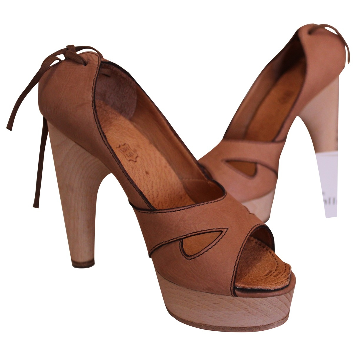 John Galliano \N Camel Leather Sandals for Women 40 EU