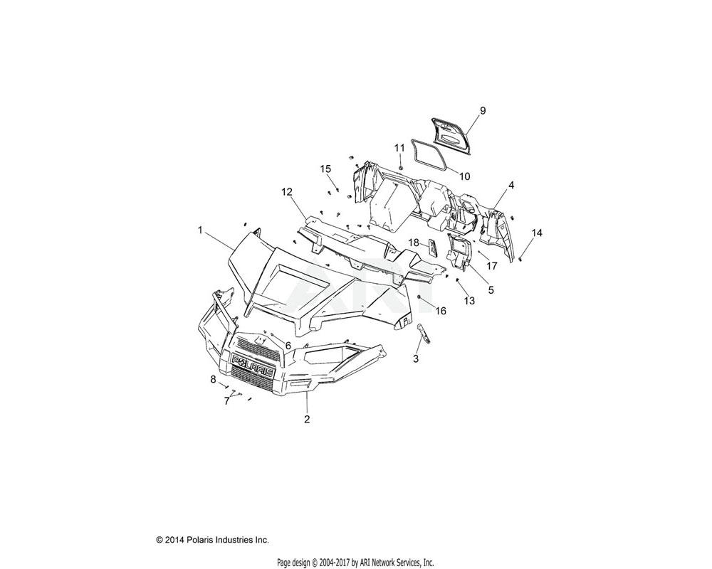 Polaris OEM 2207121 K-DASH, PNL, LWR, RGR MS CREW | [INCL. DECALS]