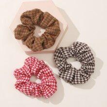3 Stuecke Haarband mit Hahnentritt Muster