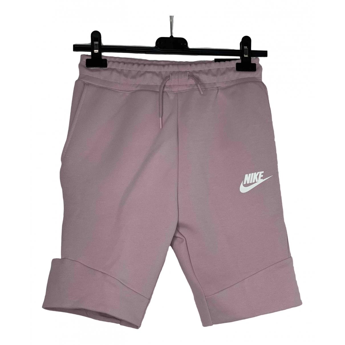 Nike - Short   pour enfant en coton - rose
