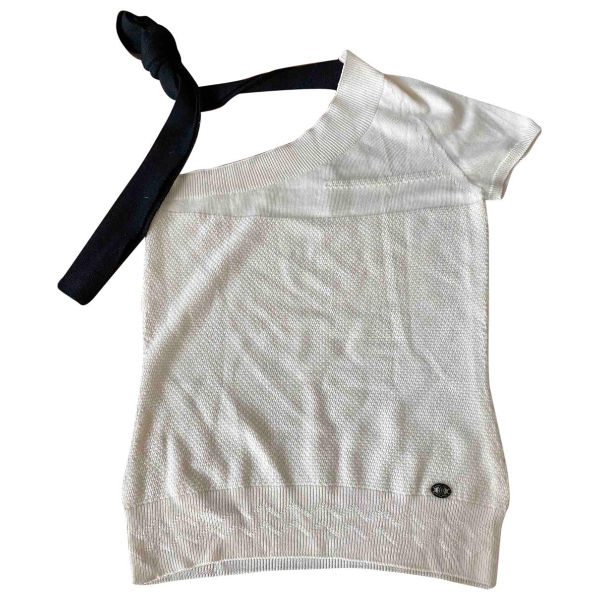 Chanel - Pull   pour femme en laine - beige