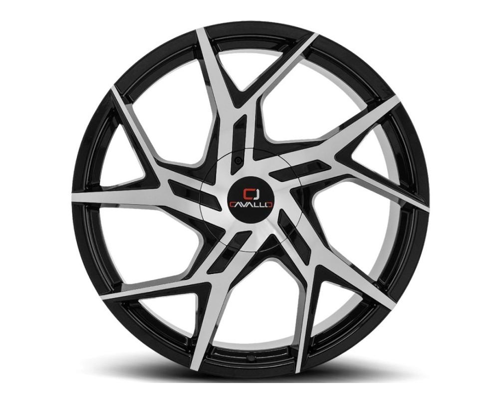 Cavallo CLV-26 Wheel 20x8.5 5x112 5x114.3 35mm Gloss Black Machined