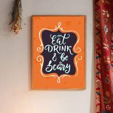 Halloween Slogan Graphic Wall Painting Without Frame