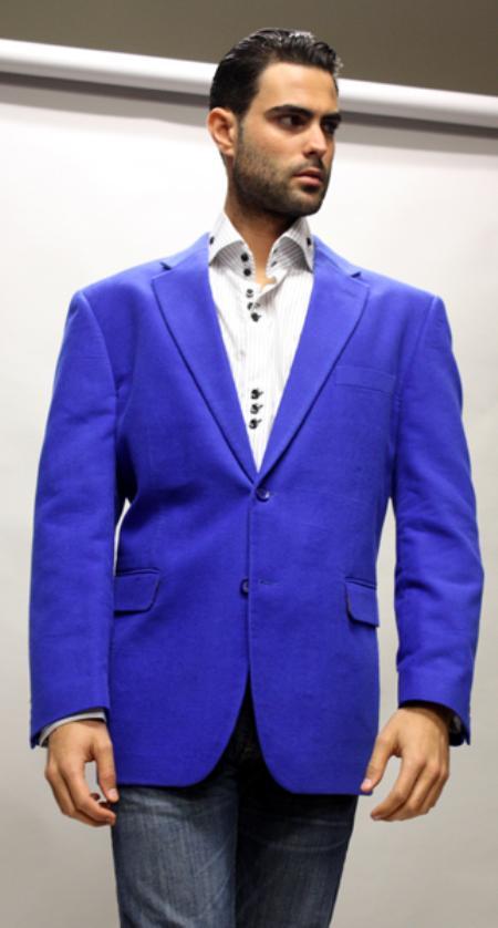 Royal Sport Coat  For All Occasion Velvet Fabric
