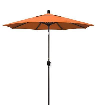 GSPT758117-5406 7.5 Pacific Trail Series Patio Umbrella With Bronze Aluminum Pole Aluminum Ribs Push Button Tilt Crank Lift With Sunbrella 2A