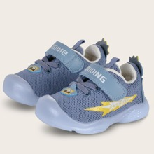 Baby Boy Letter Graphic Velcro Strap Sneakers