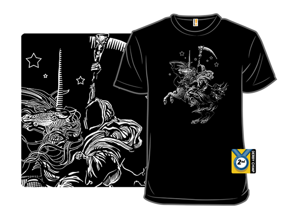 Death On A Pale White Unicorn! T Shirt