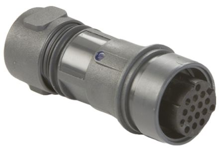 Bulgin Connector, 16 contacts Cable Mount Socket, Crimp, Solder IP66, IP68, IP69K