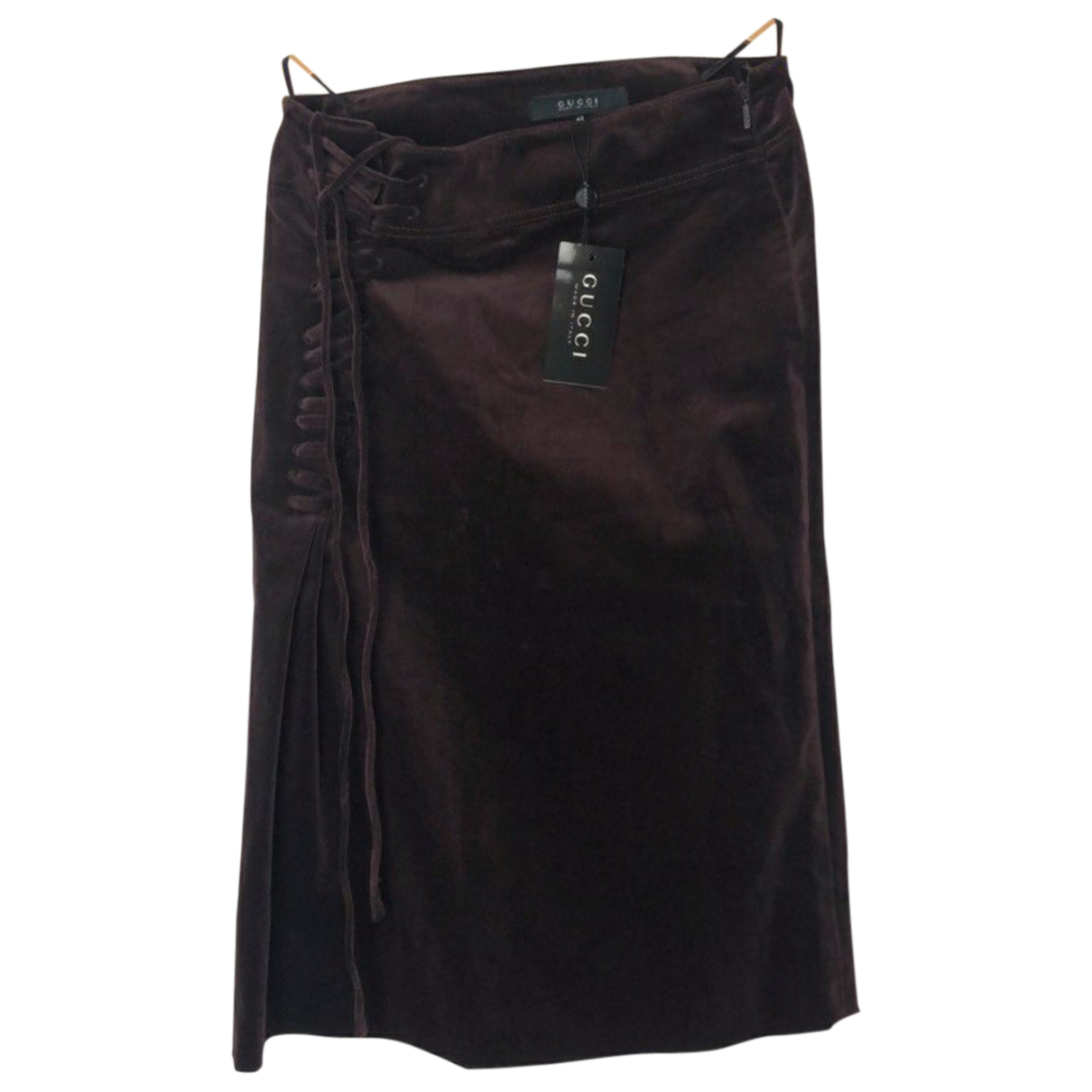 Gucci N Burgundy Cotton skirt for Women 42 IT