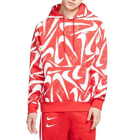 Nike Mens Long Sleeve Hoodie, X-large , Pink