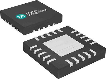 Maxim Integrated MAX16043TG+, 5-Channel Voltage Supervisor 0.481V max., Reset Input 24-Pin, TQFN (75)