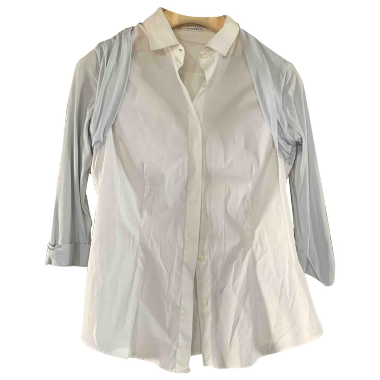 Brunello Cucinelli \N White Cotton  top for Women L International