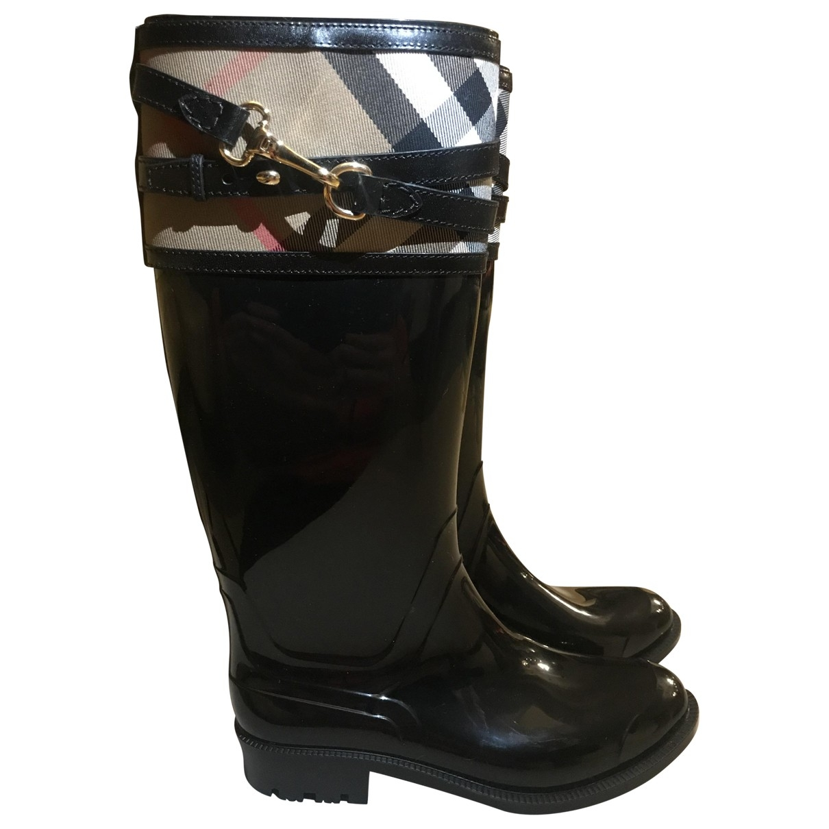 Burberry \N Black Rubber Boots for Women 35 EU