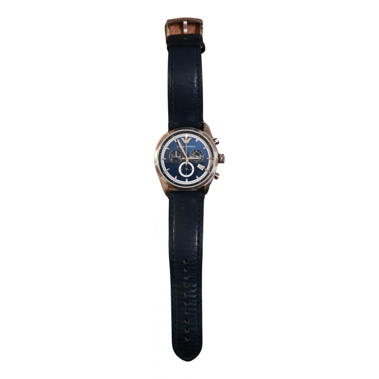 Emporio Armani \N Uhr in  Blau Stahl