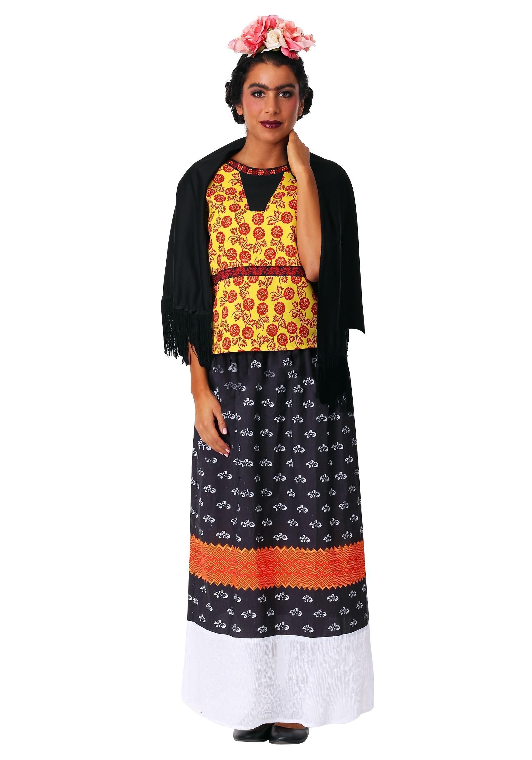 Womens Frida Kahlo Costume Dress