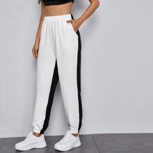 Pantalones de cintura elastica