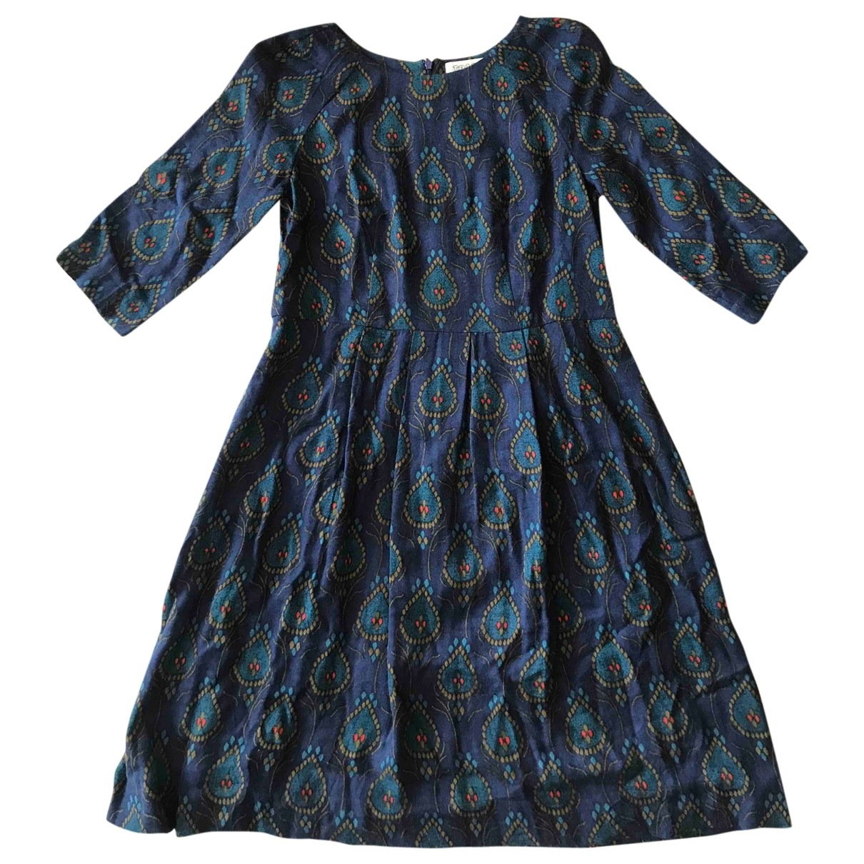 Toast \N Navy Wool dress for Women 8 UK