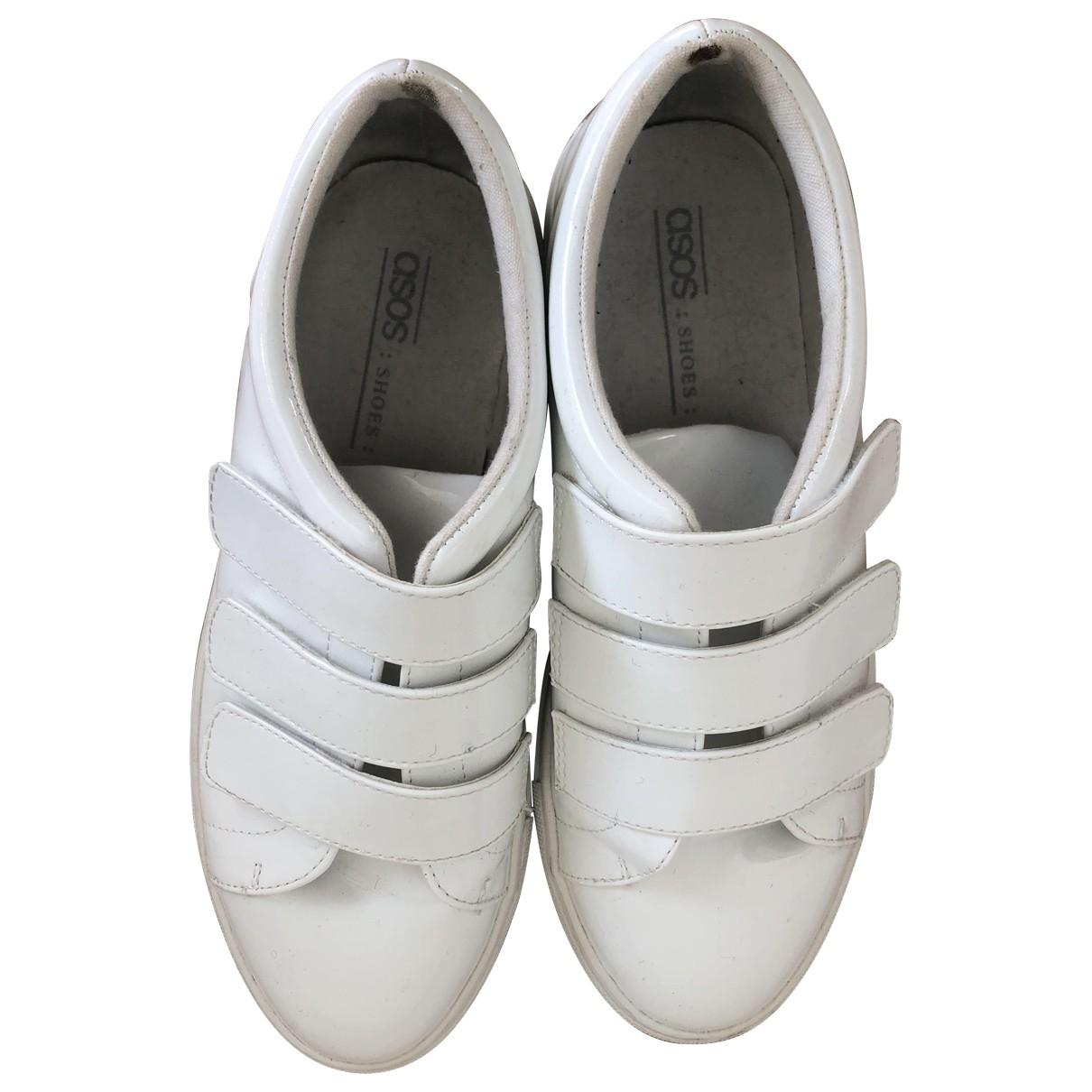 Asos \N Sneakers in  Weiss Lackleder