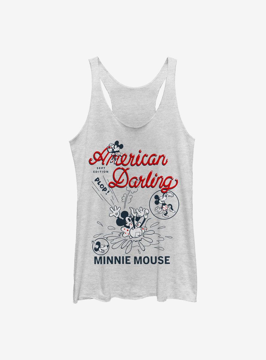 Disney Minnie Mouse Darling Comic Womens Tank Top