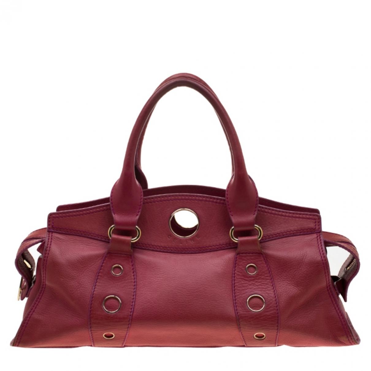 Celine \N Handtasche in  Rot Leder