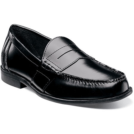 Nunn Bush Kent Men's Moc Toe Dress Penny Loafer, 8 Wide, Black