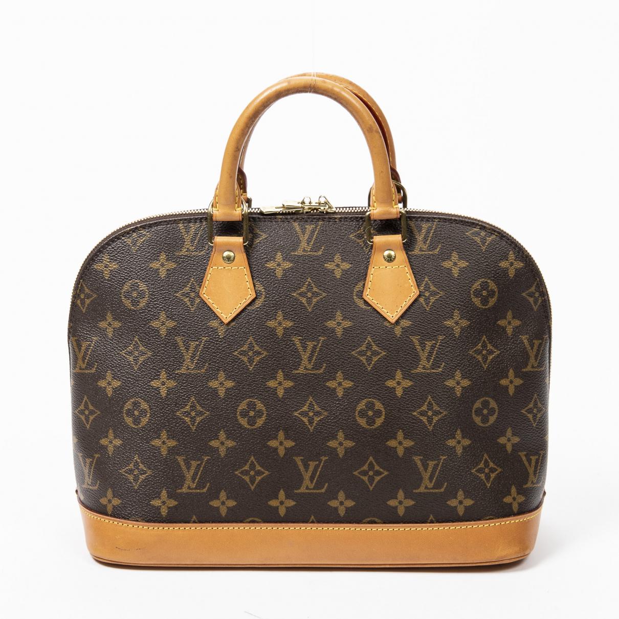 Louis Vuitton Alma Handtasche in  Braun Baumwolle