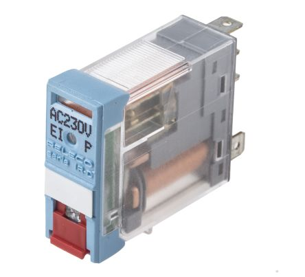 Releco , 230V ac Coil Non-Latching Relay SPDT, 6A Switching Current PCB Mount