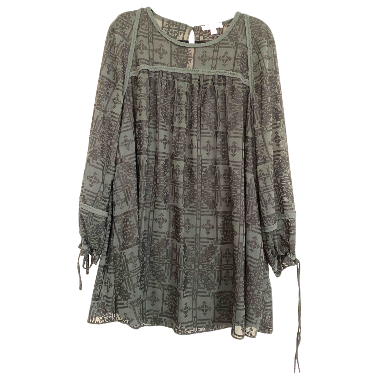 Autre Marque \N Kleid in  Gruen Baumwolle