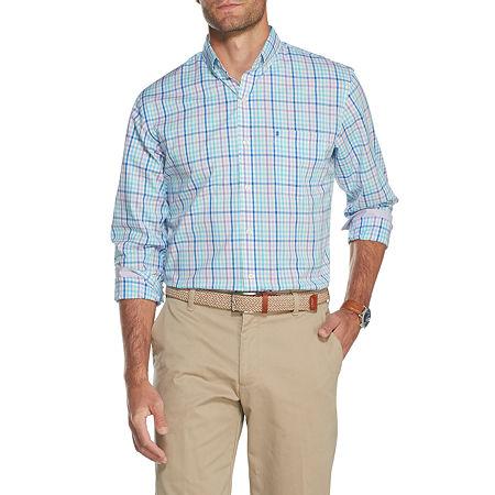 IZOD Premium Essentials Mens Long Sleeve Button-Down Shirt, Large , Purple