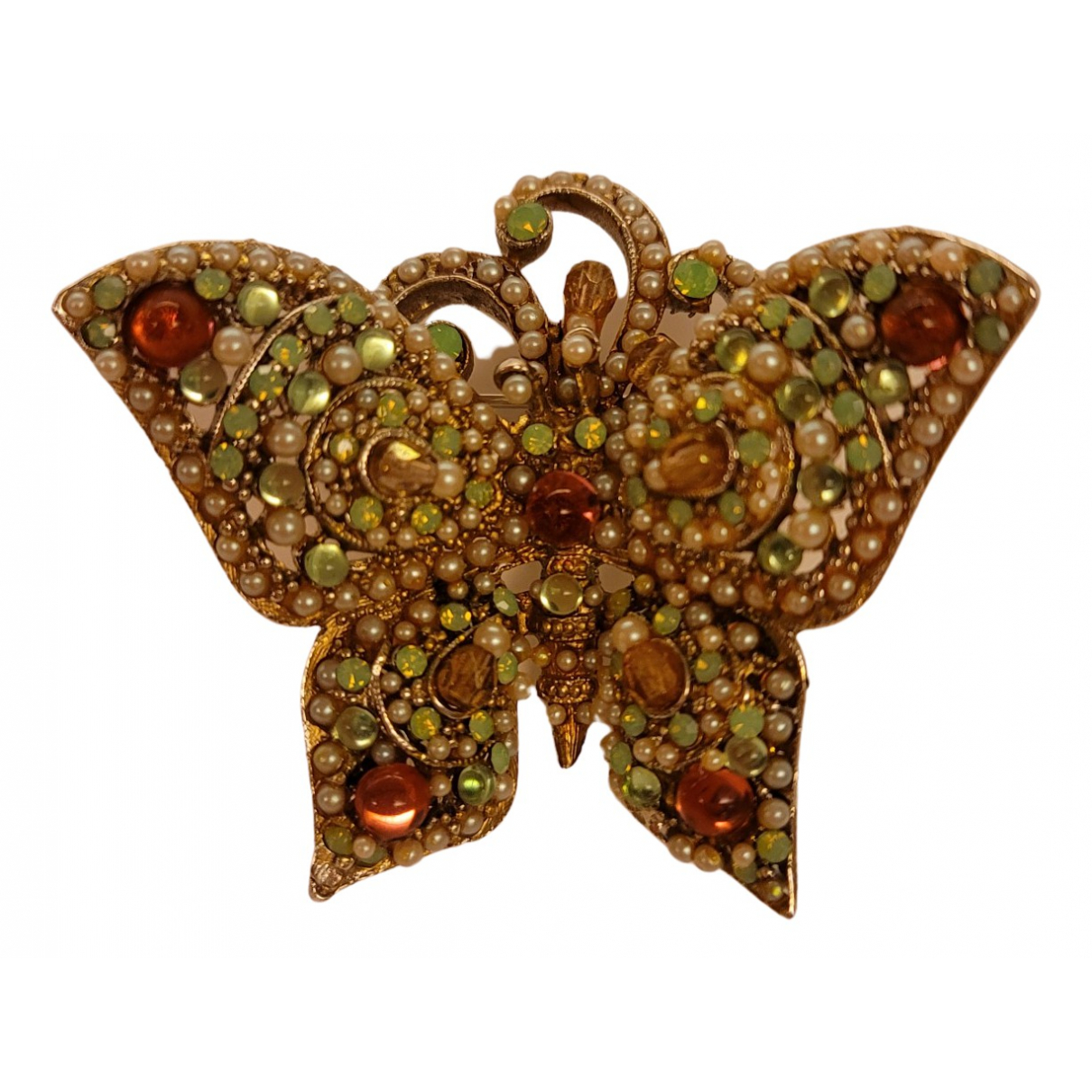 - Broche   pour femme en cristal - multicolore