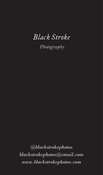 Arts & Media Business Cards, Set of 40, Silk, Card & Stationery -Black Stroke