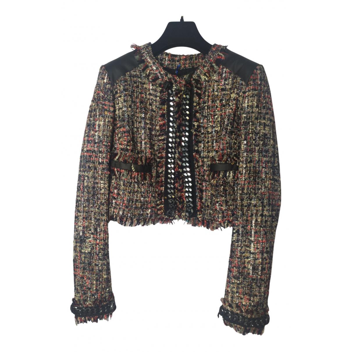Msgm - Veste   pour femme en laine - multicolore