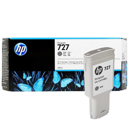 HP 727 F9J80A Original Gray Ink Cartridge High Yield 300ml