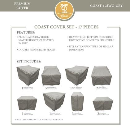 COAST-17dWC-GRY Protective Cover Set  for COAST-17d in