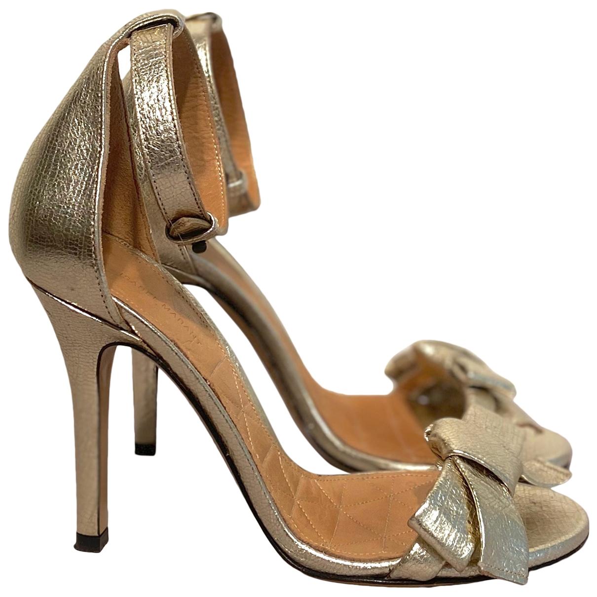 Isabel Marant \N Sandalen in  Gold Leder