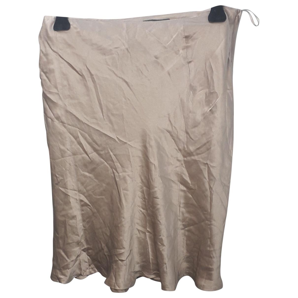Alberta Ferretti \N Gold Silk skirt for Women 46 IT