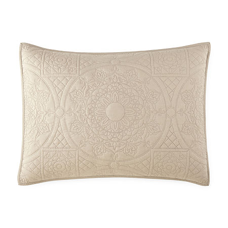 JCPenney Home Emma Pillow Sham, One Size , Beige