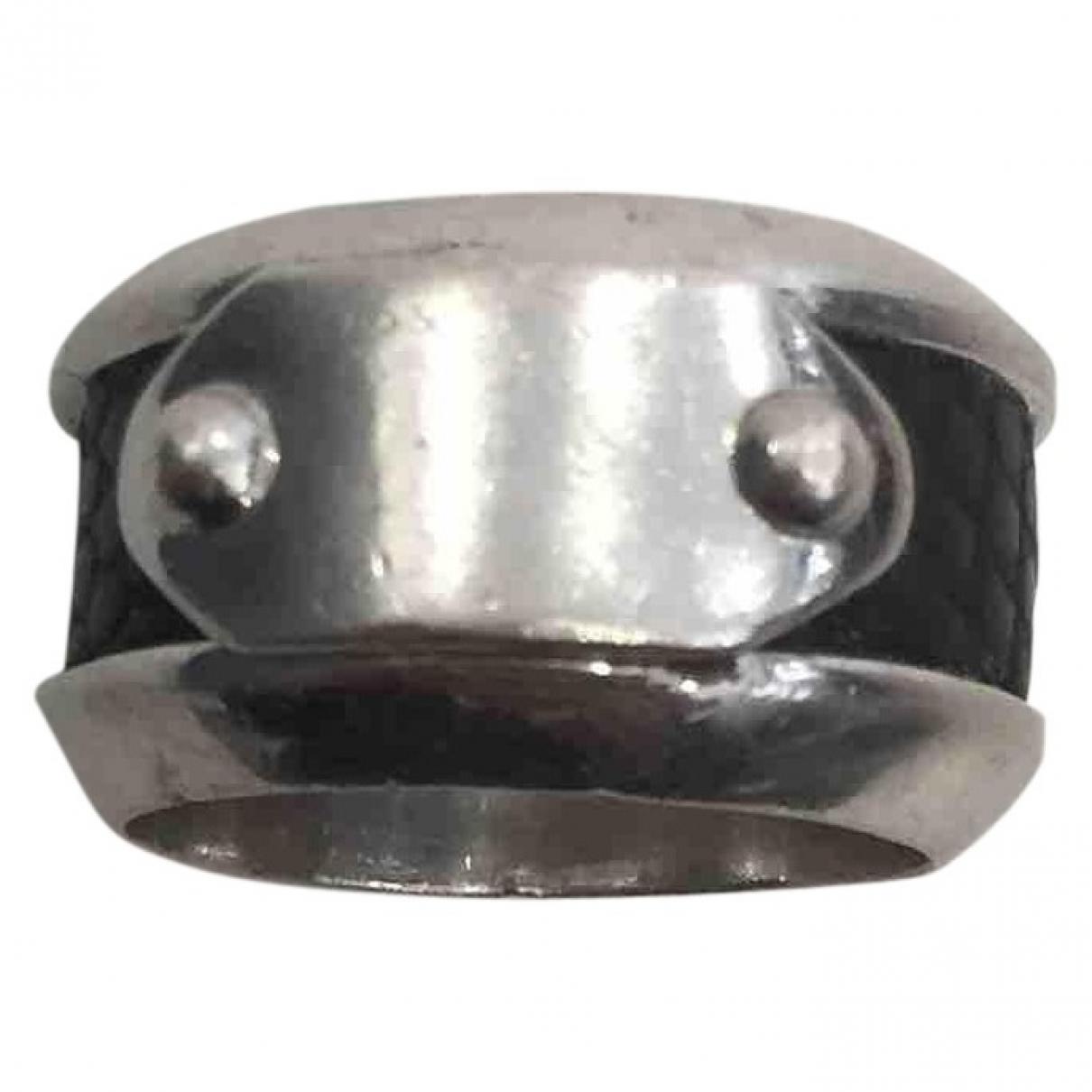 D&g \N Ring in  Metallic Silber