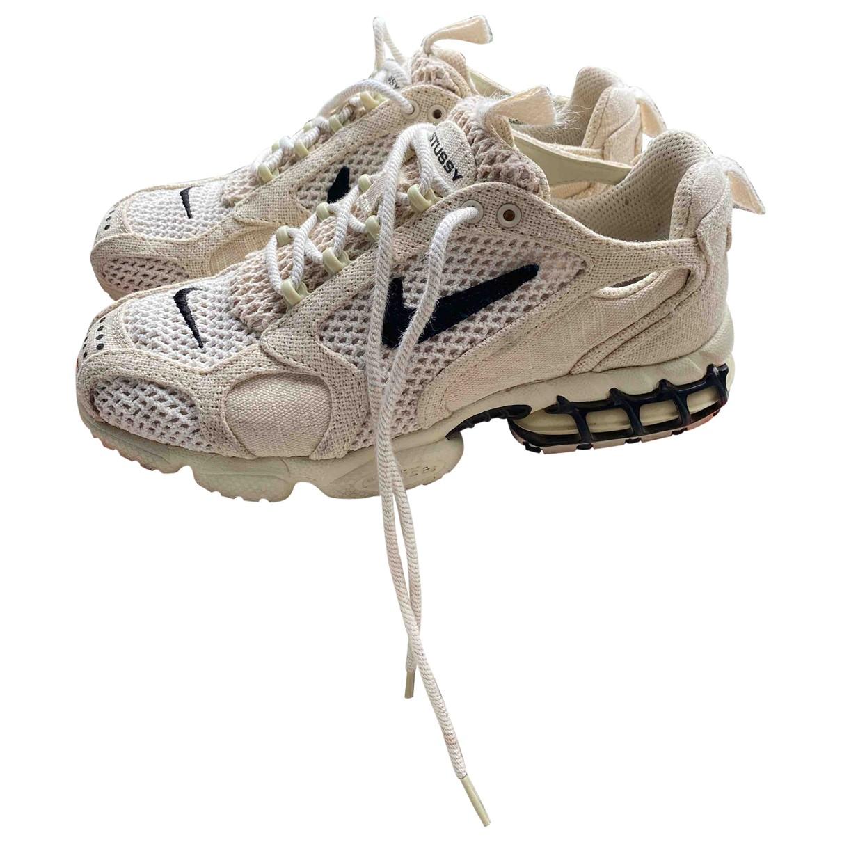 Nike X Stussy \N Sneakers in  Ecru Leinen