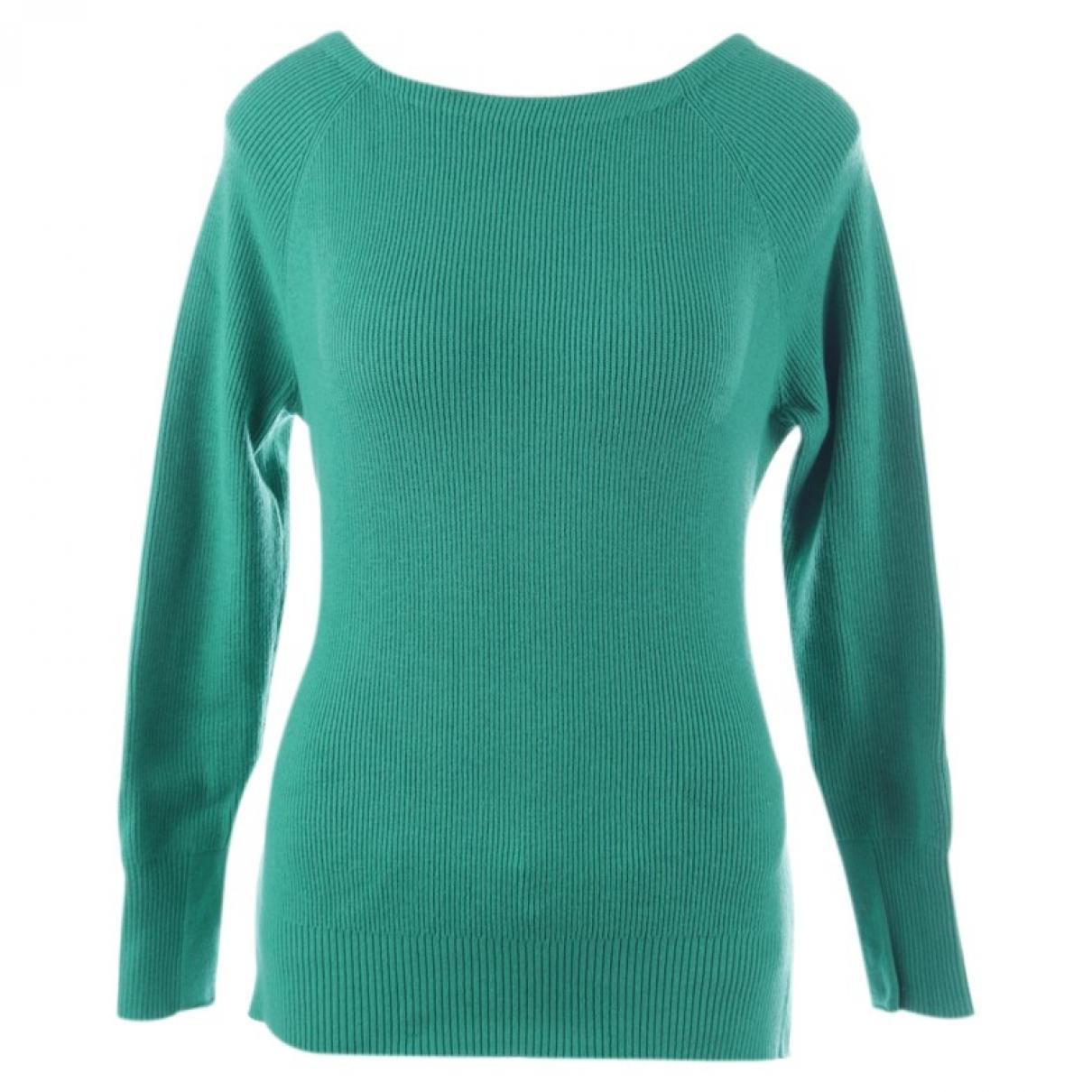 Maje \N Green Cotton Knitwear for Women 34 FR