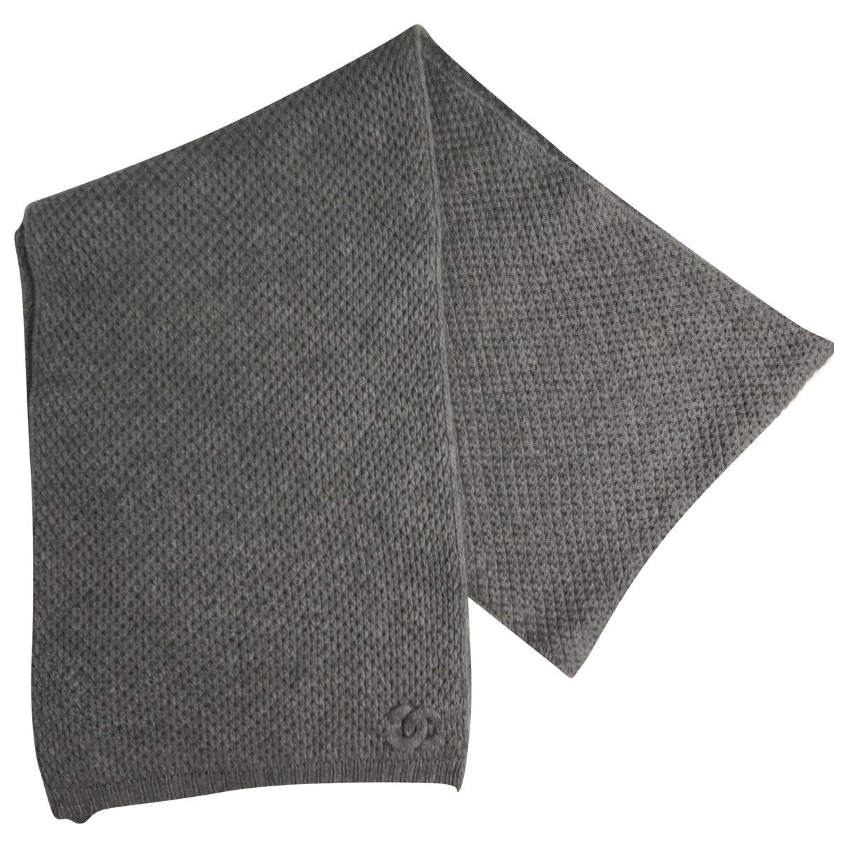 Chanel - Foulard   pour femme en cachemire - gris