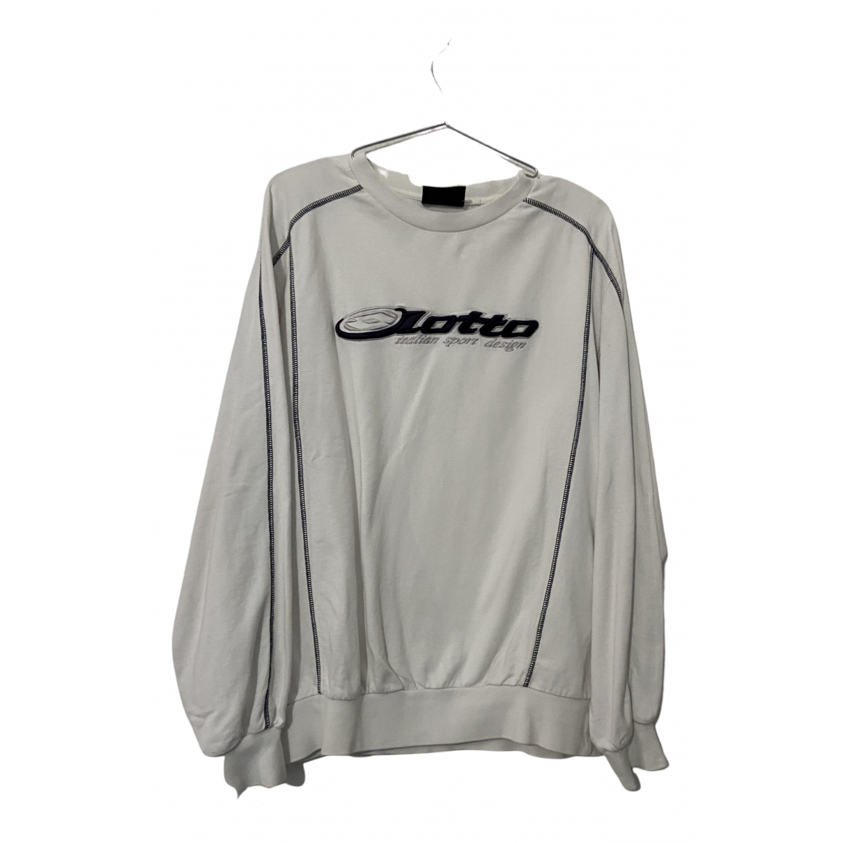 Lotto N White Cotton Knitwear & Sweatshirts for Men L International