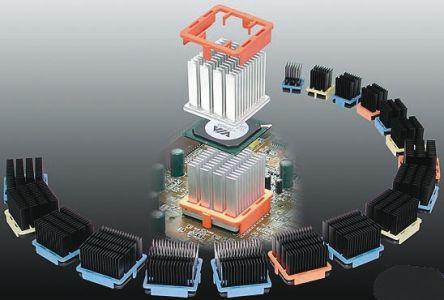 Malico Pin fin BGA heat sink chipset,40x40x25mm, Black