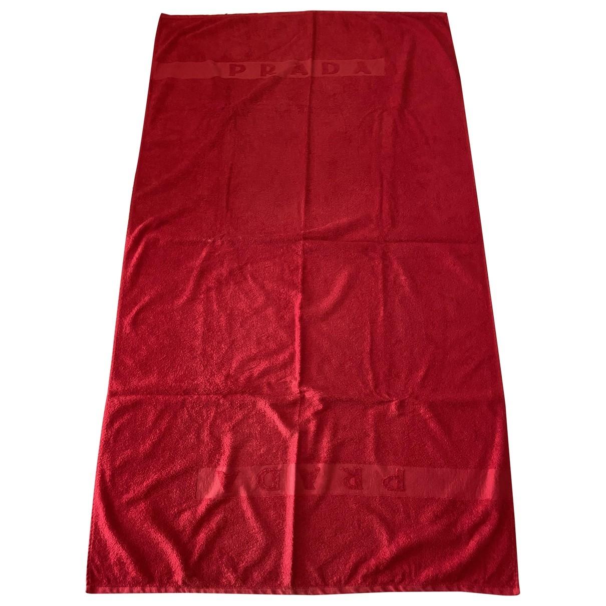 Prada - Linge de maison   pour lifestyle en eponge - rouge