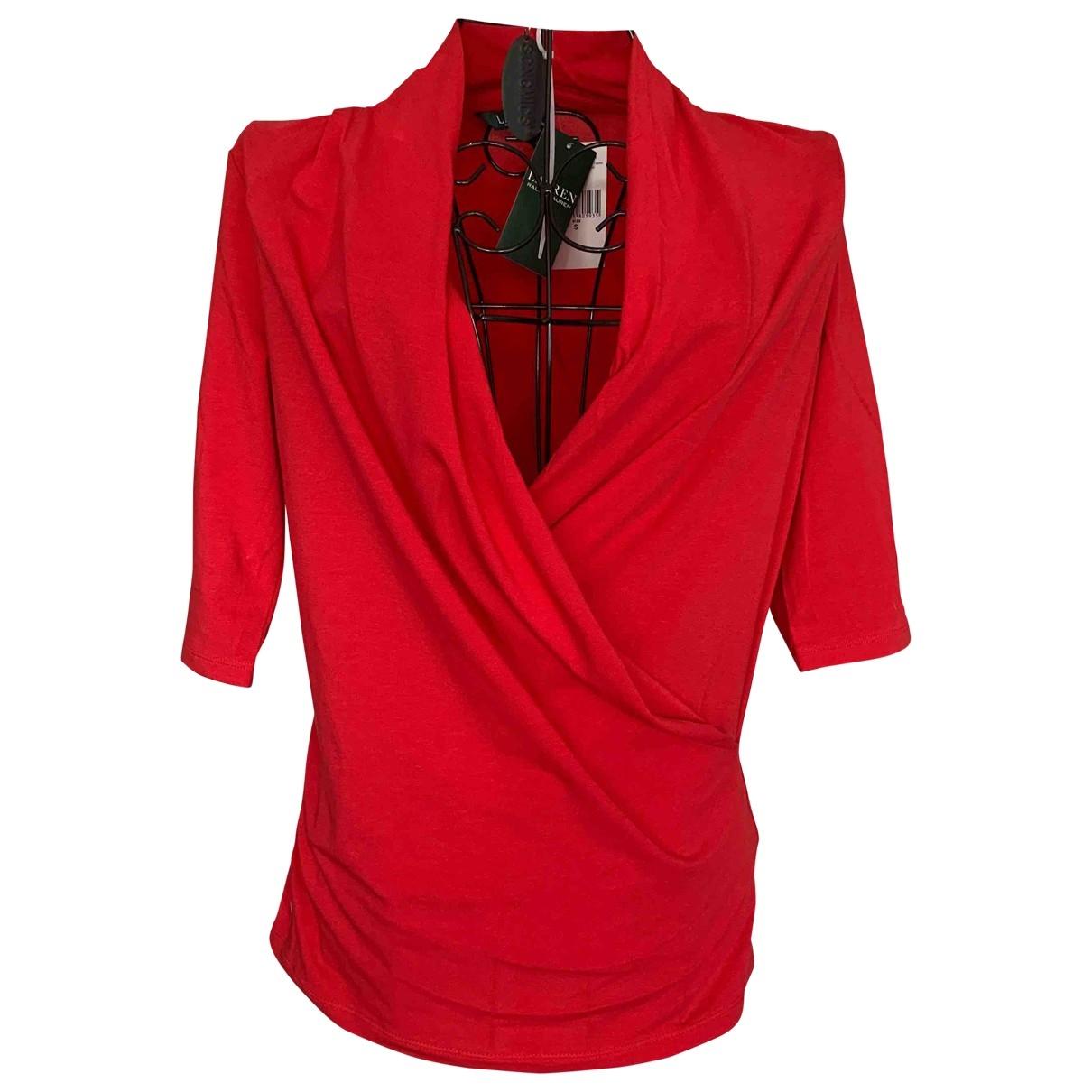 Lauren Ralph Lauren \N Red Cotton  top for Women S International